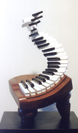 "Candace Knapp, ""Grand Piano #2"" - Music Sculpture"