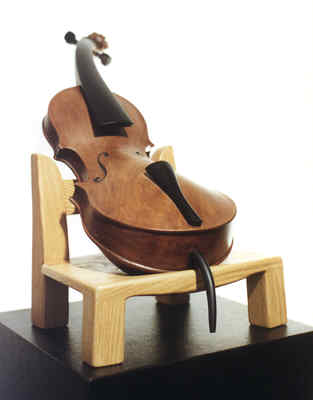 "Candace Knapp: ""Cello Lento"" - sculpture"